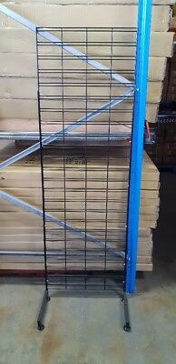Brand new black 1800mm x 600mm slat grid mesh panel. All accessories available