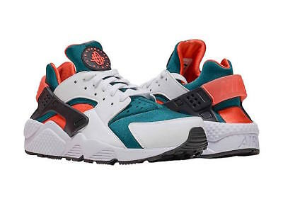 f409a5657a997 NIKE AIR HUARACHE Run SE SZ 8 White Black Forest Mango AT4254-102 ...