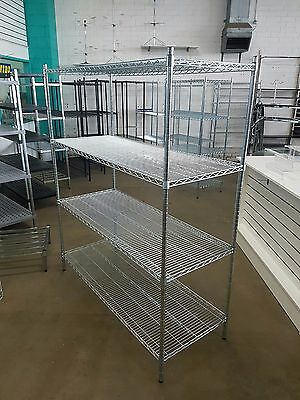 Wire shelving 1500mm x 600mm rack for retail shop Zinc coated for cool room
