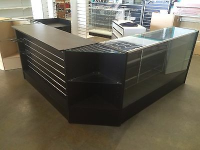 5 piece counter, counter, glass display, cash counter, 2 x corner units