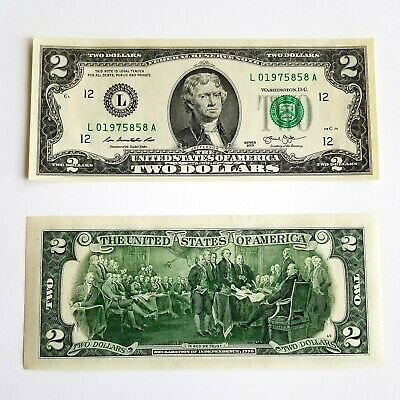 Five (5) - $2 Two Dollar Bill -  New Uncirculated - with CONSECUTIVE NUMBERS