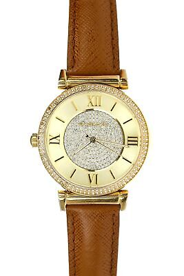 0597cb170a98 Michael Kors 150244 Catlin Champagne Crystal Pave Dial Ladies Watch MK2375
