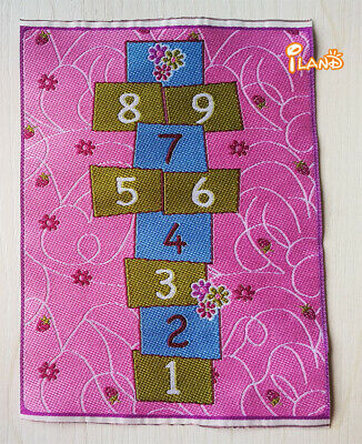 """1//12 Dollhouse Miniature Embroidered Carpet Rug  6/""""x10/"""" #OR204"""