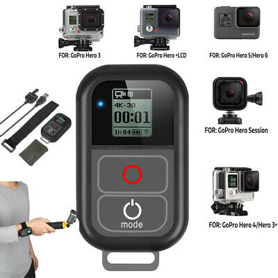 Smart Wireless WiFi Remote Control for GoPro Hero 7 6 5 4 w/ Charge Cable Strap