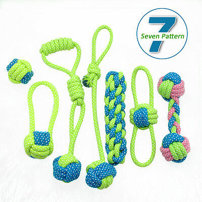 Braided Cotton Rope Pet Dog Interactive Toys for Dogs Chews Bite Training S M