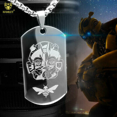 Transformers Bumblebee Pendant Necklace Titanium Steel Cos gift Fashion