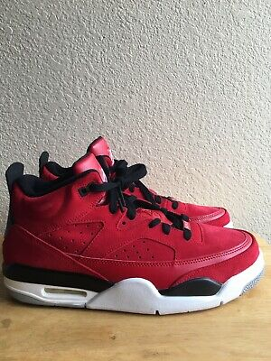 4b3732b3d08576 Nike Air Jordan Son Of Mars 580603 603 Low Gym Red Black White Grey SZ 9.5