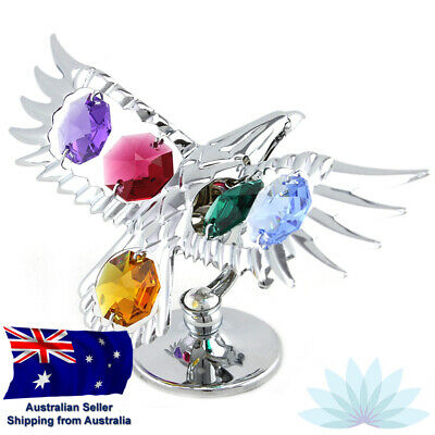 CRYSTOCRAFT Eagle Figurine with SWAROVSKI Crystals