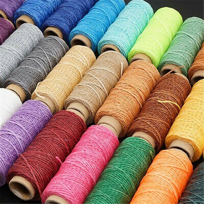 30m/roll 150D DIY Flat Hand Stitching Waxed Thread Sewing Line Leather Cord ~