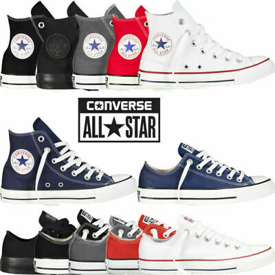 Convers Unisex Canvas Shoes Classic Color All Stars Hi/Lo Top Size Trainer shoes