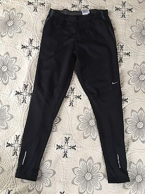 NIKE Element Shield Black Silver Reflective Running Tights Pants Womens  Size M 22f41ac95137