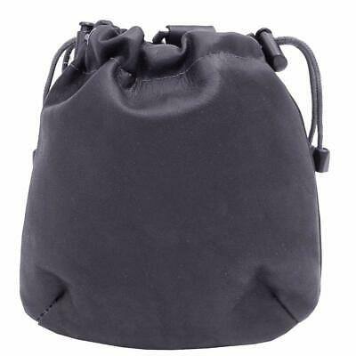 Piel Leather Unisex Drawstring Pouch Black One Size NEW