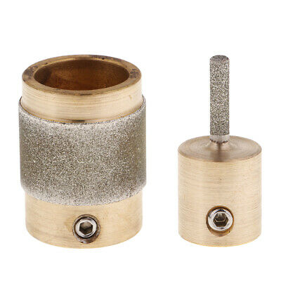 2 Golden Stained Glass Grinder Head Bit Glass Grinding Concrete Granite Tool
