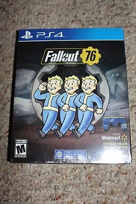 Fallout 76 STEELBOOK (Sony Playstation 4 ps4) NEW Sealed Walmart Controller Skin
