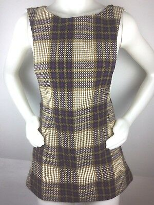 9af4180abd PLAID 60'S VINTAGE mustard (yellow)/gray fall color plaid pleated ...