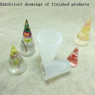 Resin Jewelry Making Cone Mould DIY Silicone Ring Bracket Mold Three Size