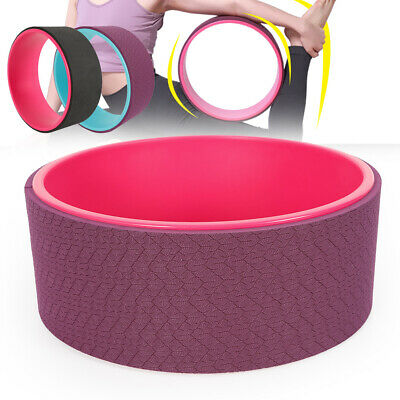 Pilates Stretch Exercise Circle Back Bend Ring Workout Yoga Wheel Roller AU BEST