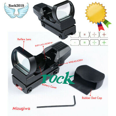 4 Reticle Tactical Holographic Red/Green Dot Reflex Sight Scope w/ 11mm Mount