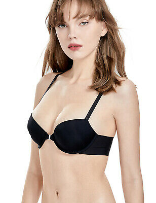 8aa756d605c Women s Front Close Lightly Lined Demi Bra Push Up Plunge T-shirt