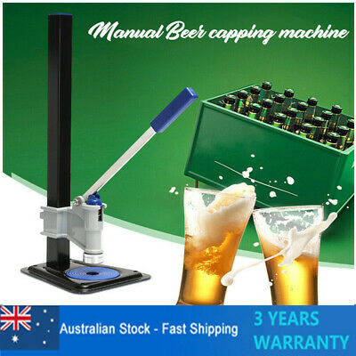 High Quality! Beer Bottle Capping Machine Manual Sealing Bottle Capper AU SHIP