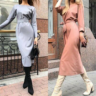 Perfect Women's Office Lady Formal Business Work Party Sheath Tunic Pencil Dress