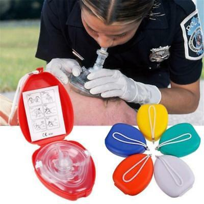 Emergency First Aid Pocket Mask Face Shield Resuscitation Kit With Valve LH