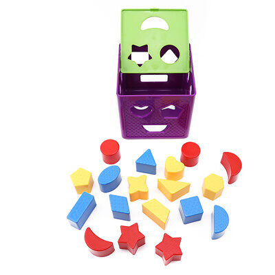 Baby Blocks Shapes Sorter Toys With Colorful Sorter Cube Box Educational LH