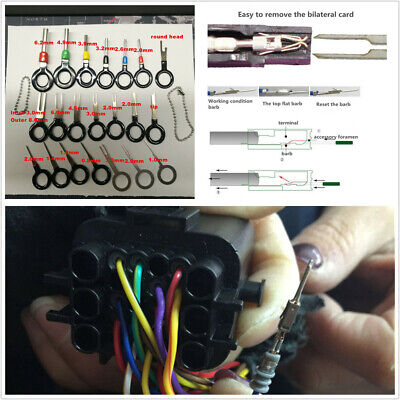 26Pcs Stainless Steel Car Wire Terminal Removal Tool Connector Pin Extractor Kit