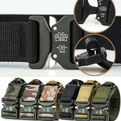 "1.5"" Tactical Nylon Belt 49"" Long Military Trainning Heavy Duty Riggers Belts"