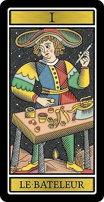 THE MAGICIAN TAROT de Marseille Major Arcana Le Bateleur Joker Big