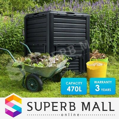 470L Food Waste Recycling Composter Compost Bin Garden Kitchen Composting