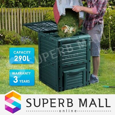 290L Food Waste Recycling Composter Compost Bin Kitchen Garden Composting
