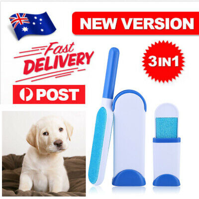 Fur Pet Hair & Lint Remover Clothes Fabric Brush Travel Size As Seen On TV AU