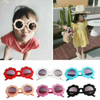 Children Kids Boys Girls Sun Flower Sunglasses Stylish Eyewear Goggles Anti-UV