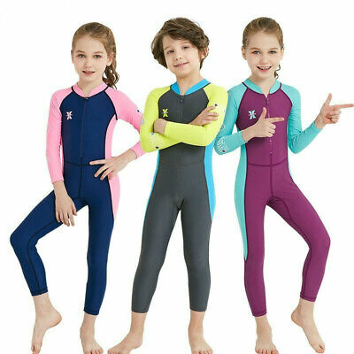 One Piece Kids Swimsuit Diving Suit  Lycra Long Sleeve Wetsuit for Boys Girls