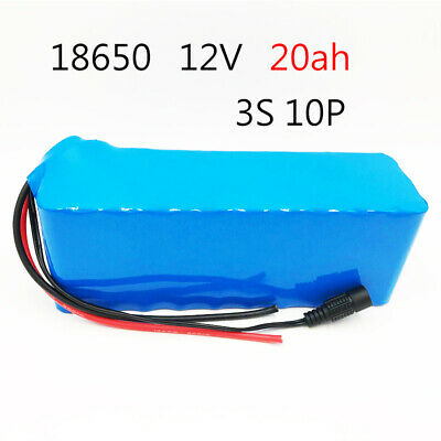 12V 20ah high capacity protection 3S 10P 12.6V 18650 rechargeable battery