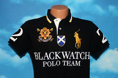Black Blackwatch Lauren Polo Shirt2 Fit Small Ralph Gold Custom Team qLUzMGpSV