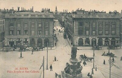 CPA - France - (51) Marne - Reims - Place Royale et rue Colbert