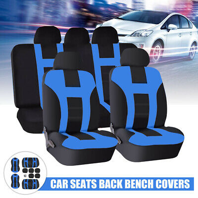 Blue Car Seat Cover Protector Universal Washable Dog Cat Pet Front Rear Full Set