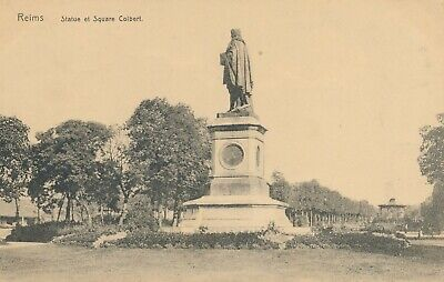 CPA - France - (51) Marne - Reims - Statue et Square Colbert