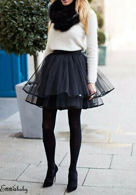 Fashion High Waist Short Tulle Skirt Women Irregular Hem Mesh Tutu Skirt Plus