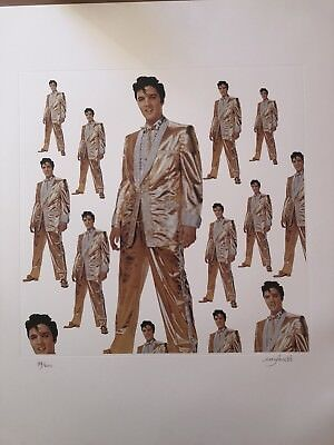 Very Rare Elvis Presley Limited Edition Signed Amy Jones Lithograph.
