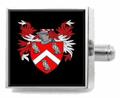 Select Gifts Willock Scotland Family Crest Surname Coat Of Arms Gold Cufflinks Engraved Box