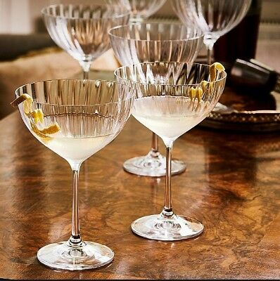 Museum Selection Crystal Champagne Coupe Glasses X2