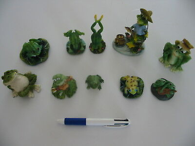 Lot de 10 figurines style grenouille