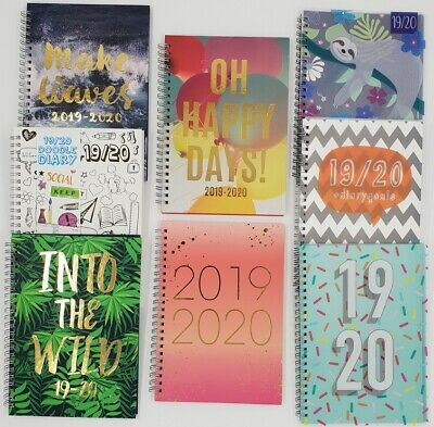 2019 / 2020 A5 Academic Mid Year Week to View Student Teacher Wiro Diary Planner