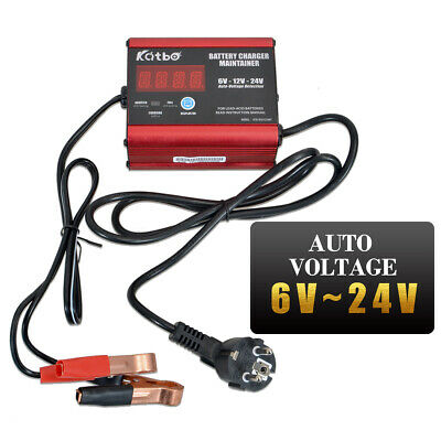 Chargeur Batterie Mainteneur 6V/12/24V Intelligent Voiture Moto AGM GEL 6000mA