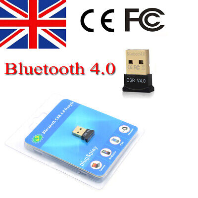 Wireless Bluetooth V4.0 USB CSR Dongle Adapter for Windows 7 8 10 XP PC Laptop