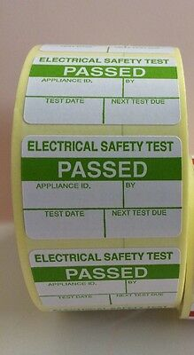PAT Testing Labels x 500 Passed Stickers Electrical FREE P+P