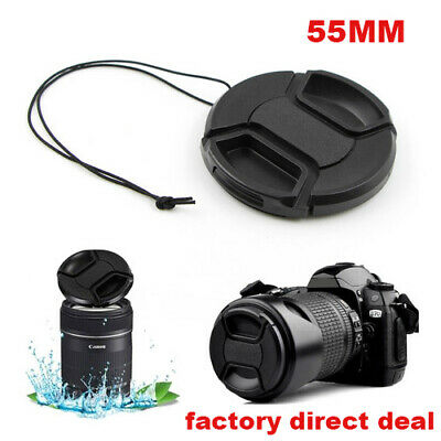 55mm Front Lens Cap Hood Cover Snap-on for Canon Sony Olympus Nikon Camera x1 UK